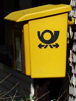 Mailbox, Yellow, Letters, Post, Deutsche Post