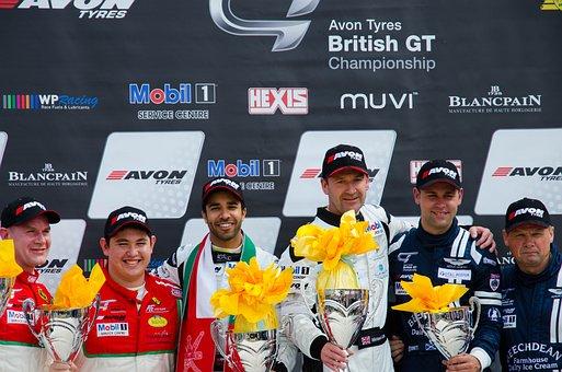 British Gt, Podium, Race Car, Driver, Race, Car