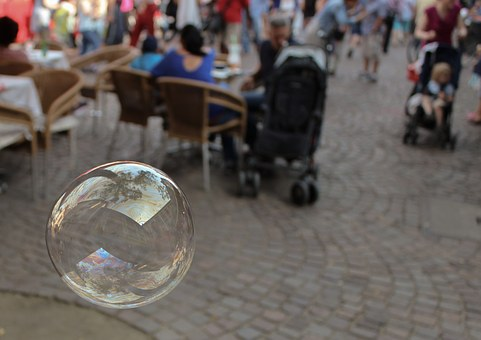 Soap Bubble, Floating, Bubble, Reflections, Air, Summer