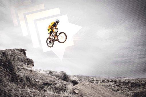 Mountain Bike, Biker, Jump, Extreme, Stunt, Risk, Trick