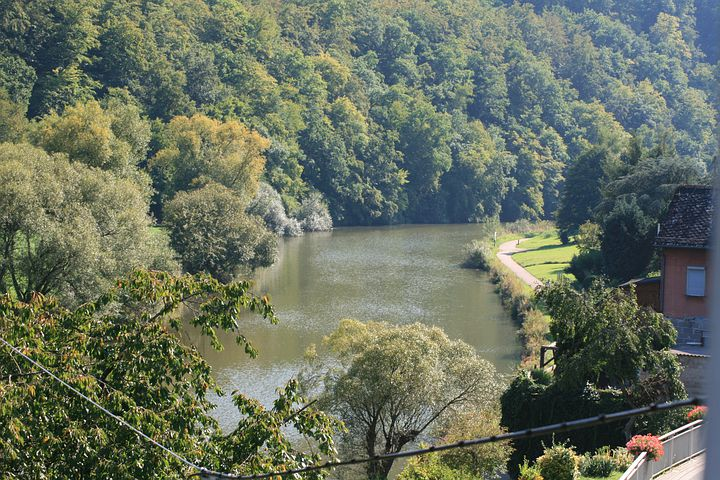 River, Water, Nature, Waters, Trees, Aue, Valley, Lahn