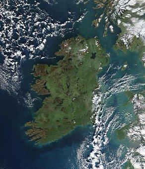 Ireland, Aerial, Satellite Image, Satellite Photo
