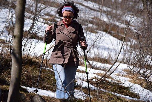 Sport, Mountain, Snow, Sports, Walk, Trekking