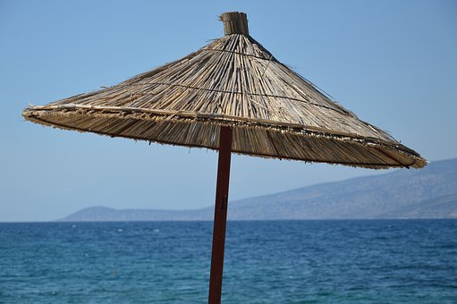 Umbrella, Beach, Sea, Sunny, Summer, Sunny Day, Holiday