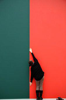 Background, Wallpaper, Red, Green, Woman, Lines