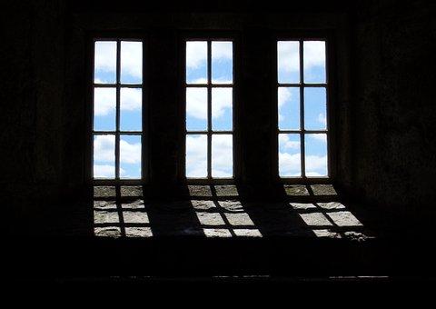 Window, Light, Clouds, Contrast, Castle, Harmony