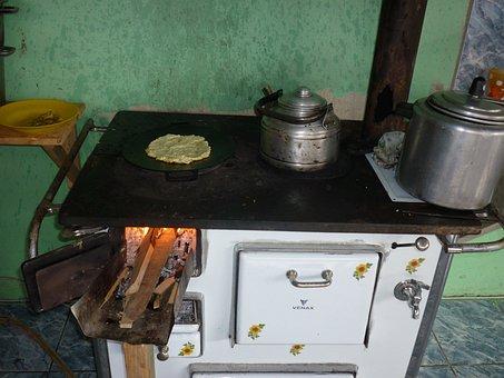 Wood Stove, Cooking, Chorreada, Kitchen, Oven, Interior