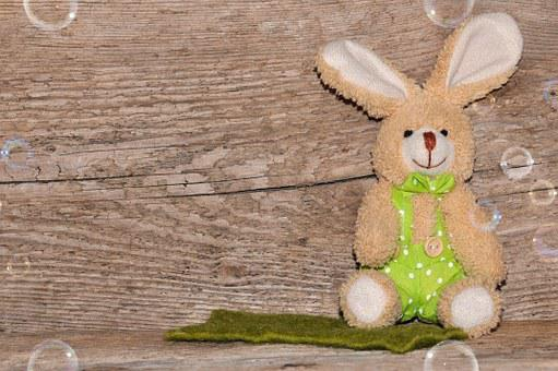 Background, Easter, Wood, Fabric Bunny, Easter Bunny
