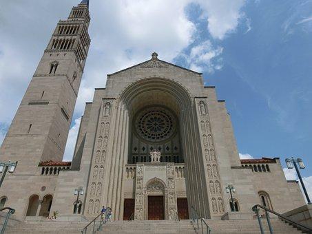 Usa, Church, Washinton, Basilica Of The National Shrine