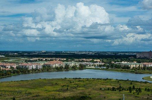 Orlando, Florida, Landscape, Clods, Sky, Nature