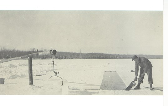 Vintage, Ice, Frozen, Lake, Cold, Winter, Outdoor