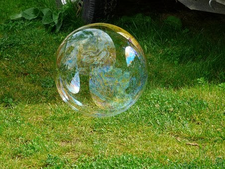Soap Bubble, Huge, Large, Shimmer, Colorful, Fly