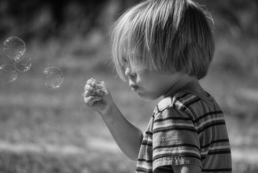 Soap Bubbles, Boy, Bubbles, Blowing, Child, Fun, Happy