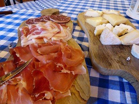 Ham, Sausage, Salami, Cheese, Hard Cheese, Camembert