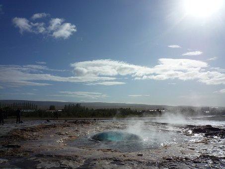 Strokkur, Geyser, Iceland, Hot Water Valley, Haukadalur
