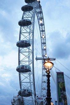 London Eye, Big Wheel, Wheel, Big, London, City