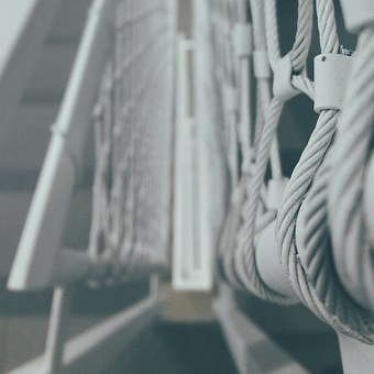 Ropes, Banister, Bridge, Fence, Structure, Metal