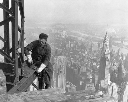 Skyscraper, Workers, Construction Workers, New York, Ny