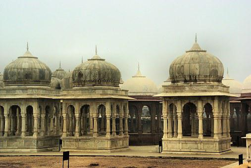 India, Rajastan, Jaisalmer, Cenotaphs, Tombs, Maharajah