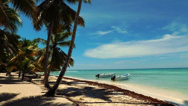 Caribbean, Saona Island, Sea, Turquoise, Ocean, Wave