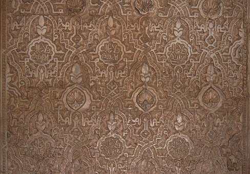 Arab, Stuc, Alhambra, Granada, Wall, Spain, Relief