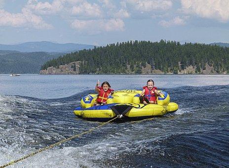 Rafting, Kids, Inner Tube, Summer, Fun, Activity, Human