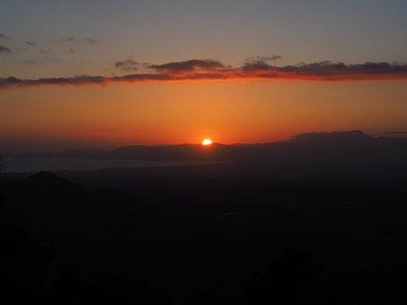 Bay Of Palma, Palma, Sunset, Solar Disk, Fireball, Sun