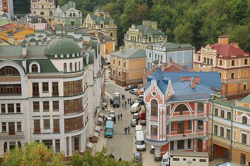 Ukraine, Kiev, City, The Picturesque Street, At Home