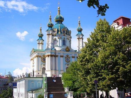 St Andrews Church, Kiev, Ukraine, Church, Cathedral