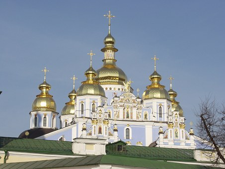 Kiev, Ukraine, Church, Orthodox, Ukrainian, Historic