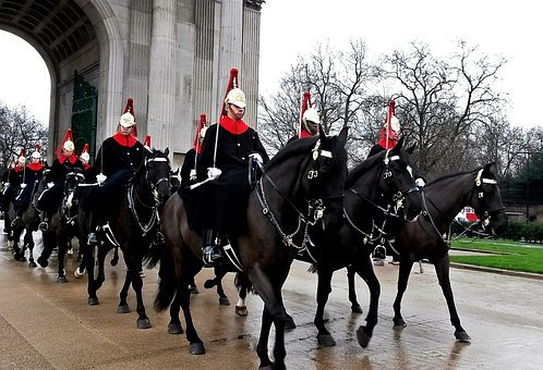 Guard, Horses, Military, In Formation, Uniform