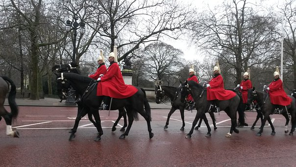 Horses, Guard, Military, In Formation, Uniform