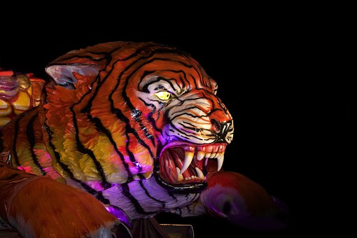 Tiger, Carnival, Allegory, Wagon, Allegorical