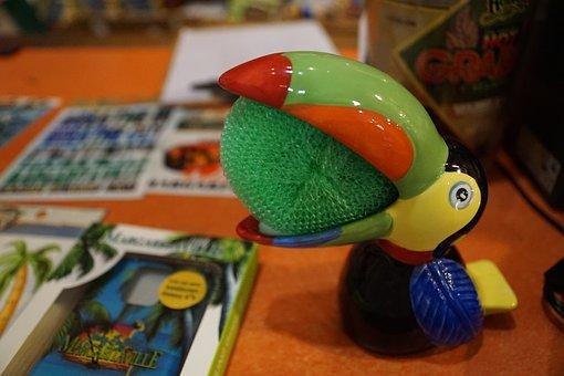 Toucan, Figure, Bird, Toys, Ceramic, Souvenir, Idea