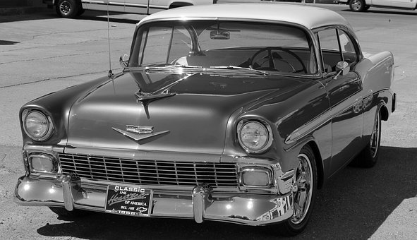 Chevy, Chevrolet, Bel Air, 1956, Classic, Car