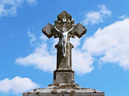 Cross, Jesus, Inri, Cemetery, God, Faith, Christ