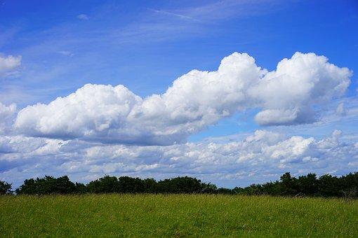 Clouds, Cloud Formations, Heathland, Landscape, Nature