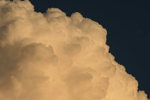 Cumulus, Cloud, Cumulus Nimbus, White, Large, Dense