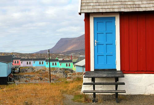 Door, House Of Stairs, Red, Qeqertarsuaq From