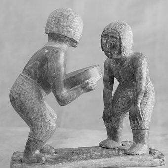 Greenland, Eskimos, Figure, Culture, Drum Dance