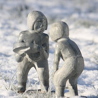 Greenland, Soapstone, Figure, Culture, Eskimos