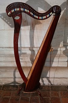 Harp, Plucked String Instrument, Musical Instrument