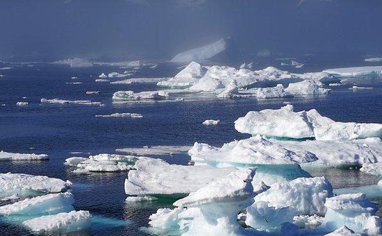 Icebergs, Sea, Ice, Greenland, Arctic Circle, Cold