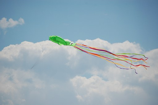 Kite, Sky, Blue, Fun, Summer, Wind, Fly, Colorful