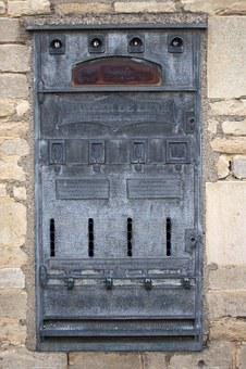 Vending Machine, Ancient, Disused, Metal Construction