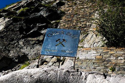 Signs, Old Mine, Mine, Mountains, Austria, Lake