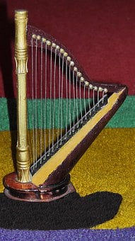 Harp, Plucked String Instrument, Fig, Music