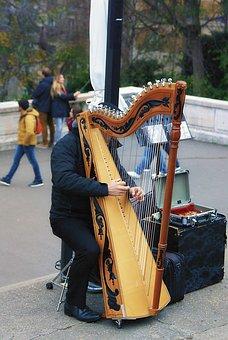 Musical Instrument, Harp, Street Game, Street Artist
