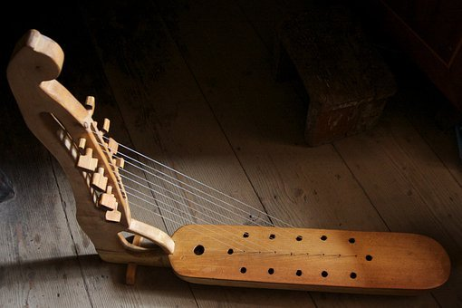 Harp, Musical Instrument, Wooden, Traditional, Changi