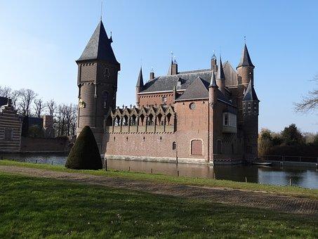 Castle, Outdoor Place, Pond, Building, Estate, Home
